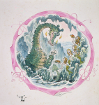 Firmin, Peter (born 1928): Illustration for Stanley the Lizard, 1979, author: Meteyard, Peter, signed, watercolour and ink, 24.3 x 20.4 cms.