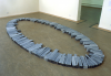 Bevan, Vince (born 1954): Richard Long's Ellipse - an installation made specifically for Falmouth Art Gallery 20 December 2001, photograph, 23.6 x 29.6cms. Presented by Falmouth College of Arts.