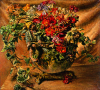 Newton, Kenneth (1933-1984): Figurine Bowl with Spring Flowers, 1976, oil on canvas, 111.8 x 122 cms. The Richard Harris Gift.