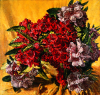 Newton, Kenneth (1933-1984): Rhododendrons from the Garden at Hopebourne, Kent 1976, signed and dated 1976, oil on canvas, 122 x 127 cms. The Richard Harris Gift.