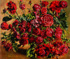Newton, Kenneth (1933-1984): Study of Roses, 1976, signed and dated 1976, oil on canvas, 63.5 x 73.7 cms. The Richard Harris Gift.