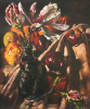 Newton, Kenneth (1933-1984): Magnolias, Bottle & Fruit, 1979, oil on canvas, 61 x 50 cms. The Richard Harris Gift.