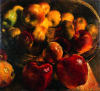 Newton, Kenneth (1933-1984): Reflected Apples, 1979, oil on canvas, 660 x 712 cms. The Richard Harris Gift.