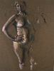 Newton, Kenneth (1933-1984): Eleanor, signed, pastel on paper, 63.5 x 45.2 cms. The Richard Harris Gift.