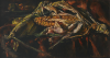 Newton, Kenneth (1933-1984): Corn on the Cob, 1973, signed, oil on canvas, 30.5 x 55.9 cms. The Richard Harris Gift.