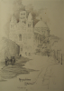 Williams, Marjorie (nee Murray 1880-1961): Angouleme Cathedral, signed and dated 1910, pencil, 24.8 x 17.8 cms. Presented by Mariella Fischer Williams MD in 2003.