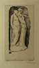 Williams, Marjorie (nee Murray 1880-1961): Demeter and Persephone, signed, etching, 17 x 10.4 cms. Presented by Mariella Fischer Williams MD in 2003.