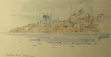 "Williams, Marjorie (nee Murray 1880-1961): Istambul 6.30 am, inscribed ""Istambul 6.30 am"", pencil and wash, 13 x 23 cms. Presented by Mariella Fischer Williams MD in 2003."