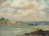 Jameson, Frank (1899-1968): Flushing from Falmouth, signed, oil on panel, 35.7 x 45.8 cms.