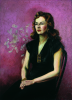 Richardson, Frances Wright: Portrait of Grace, signed, oil on canvas, 92 x 66 cms. The Grace Gardner gift.