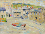 Thomas, Martina (1924-1995): Marigolds at Mousehole, signed, oil on canvas, 36 x 46 cms. Presented by Eric James Mellon NDD/Hon Fellow CPA in 2004.