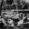 Miller, Lee (1907-1977): Picnic, Mougins, France, inscribed Lee Miller Archives stamp, photograph, 29.2 x 23.5 cms. Purchased with grant aid from the Esmee Fairbairn Foundation in 2004. © Lee Miller Archive. All rights reserved.