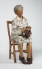 Cox, Philip (born 1945): Mrs Murkin - the gallery attendant papier mache, papier mache, 119 cms.
