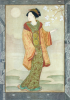 Wilmer, John Riley (1883-1941): A Japanese lady, signed, watercolour, 27 x 19 cms. Presented in 2005 by Jill Armitage-Lewingdon in memory of Joan Rhodes (nee Armitage).