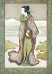 Wilmer, John Riley (1883-1941): A Japanese lady, signed, inscribed J Riley Wilmer, watercolour, 27 x 19 cms. Presented in 2005 by Jill Armitage-Lewingdon in memory of Joan Rhodes (nee Armitage).