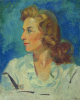 Bratten, Chester: Portrait of Grace, signed and dated 1947, oil on canvas board, 50 x 39.6 cms. Presented by Gardner, Grace.