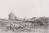 Turner, Joseph Mallord William RA (1775-1851): St Michael's Mount, inscribed St. Michael's Mount, 204, 3295, Volume 3 in pencil, Line engraving, 23.5 x 42.5 cms.