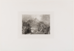 Turner, Joseph Mallord William RA (1775-1851): Launceston, engraver: Varrall, printer: McQueen, intaglio print on paper, 42.5 x 61 cms.