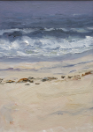 "Jones, Robert (born 1943): Atlantic Breakers, Nantucket 2000, signed, inscribed "" RJ"", oil on board, 33 x 22.9 cms. Presented by the artist in 2006."