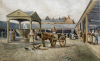 Croxford, William Edward 1851-1926: Falmouth Market, signed and dated 1891, watercolour, 21.4 x 33.8 cms.