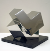 Mount, Paul (born 1922): Kristoid, signed, polished steel, 21 cms high. Presented in memory of Simon Arnold by his wife Juliet.