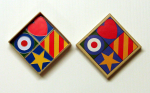 Blake, Sir Peter RA (born 1932): Pop Art - set of badges, signed and dated 2006, inscribed 405/2000, mixed media, 8 x 8 cms.