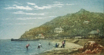 Rowbotham, Claude Hamilton (1864-1949): Babbacombe Beach, signed, coloured etching, 12 x 15 cms. Presented by Brian D. Price.