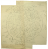 Williams, Marjorie (nee Murray 1880-1961): Circular flower design, inscribed for Joanne, pencil on paper, 40 x 38.2 cms. Presented by Dr Mariella Fischer-Williams.
