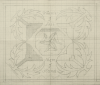 Williams, Marjorie (nee Murray 1880-1961): Where'er I fall there I stand - design containing the Manx arms, pencil on graph paper, 43.6 x 53 cms. Presented by Dr Mariella Fischer-Williams.