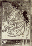Gaskin, Arthur Joseph ARE RBSA (1862-1928): The wood gather, signed and dated 1919, inscribed to Mrs Marjorie William, wood engraving, 13 x 9 cms. Presented by Dr Mariella Fischer-Williams.