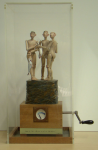 Spooner, Paul (born 1948): 'Please Mr Tuke, when can we put our togs back on?', automaton, 46 cms high. Commissioned with funding from the Heritage Lottery Fund and Bonhams.