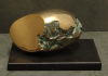Hubbard, Deidre FRBS (born 1935): Earth-Egg, bronze (number 7 of an edition of 12), 14 cms high. Presented by the artist in 2008.