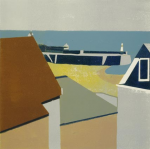 Davies, Peter: Sandy Harbour, signed and dated 2008, inscribed 1/8, linocut, 33 x 33 cms.