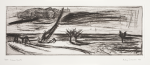 Jackowski, Andrzej (born 1947): Dawn Ghosts, 1989, printer: Stoneman, Hugh (1947-2005), publisher: Print Centre Publications, signed and dated 1988, etching (B.A.T), 46.5 x 67 cms. The Art Fund Hugh Stoneman Archive.