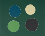 O'Casey, Breon (1928-2011): Four Circles, printer: Stoneman, Hugh (1947-2005), publisher: special editions, signed and dated 2003, woodcut (number 15 of an edition of 15), 41 x 70.7 cms. The Art Fund Hugh Stoneman Archive.