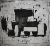 Jackson, Kurt (born 1961): Carnsew dumper, signed and dated 1998, etching, 24 x 30 cms. Presented by Kurt and Caroline Jackson.