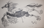 Woodroffe, Patrick (1940-2014): Aerodynamic Horse, signed and dated 1963, inscribed from M/9