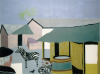 Davies, Peter: Newquay Zoo, signed and dated 2008, linocut (edition 2/5), 35 x 44 cms. Commissioned with funding from the Heritage Lottery Fund as part of the Darwin 200 celebrations.