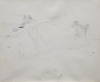 Wood, Christopher (1901-1930): Restonguet Point, pencil, 33.5 x 40.5 cms. Purchased with support from the Lander Gallery, Truro.