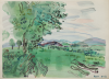 Dufy, Raoul (1877-1953): Landscape with logs, signed, pochoirs in colour, 28.2 x 38 cms. Given by Mrs Naomi G. Weaver through the Art Fund. © ADAGP, Paris and DACS, London 2010.