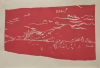 Flanagan, Barry RA (1941-2009): Red landscape, signed and dated 1976, linocut (9 of an edition of 60), 38 x 56.5 cms. Given by Mrs Naomi G. Weaver through the Art Fund.