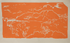 Flanagan, Barry RA (1941-2009): Orange landscape, signed and dated 1976, linocut (7 of an edition of 25), 34 x 56.5 cms. Given by Mrs Naomi G. Weaver through the Art Fund.