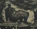 Moore, Henry OM CH (1898-1986): Black reclining figure (Cramer 378), 1974, signed, lithograph (17 of an edition of 20), 29.5 x 40 cms. Given by Mrs Naomi G. Weaver through the Art Fund. Reproduced by permission of the Henry Moore Foundation.
