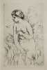 Renoir, Pierre-Auguste (1841-1919): Baigneuse debout à mi-jambes, dated 1910, etching, 47.5 x 32.5 cms. Given by Mrs Naomi G. Weaver through the Art Fund.