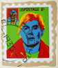 Foster, Tony (born 1946): Hero Stamps - Andy Warhol 2, signed and dated 1978, screenprint (9 of an edition of 12), 41 x 33 cms.