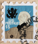 Foster, Tony (born 1946): Hero Stamps - Claes Oldenburg 4, signed and dated 1978, stuffed textile and spray paint (2 of an edition of 12), 42 x 33 cms.