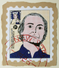 Foster, Tony (born 1946): Hero Stamps - Roy Lichtenstein 1, signed and dated 1978, screenprint (5 of an edition of 8), 41 x 34.5 cms.