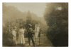 Unknown artist (early 20th century): Henry Scott Tuke painting at Rosehill gardens, photograph, 21 x 29.5 cms.