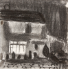Markey, Danny (born 1965): Mongleath Avenue, Falmouth 1998, charcoal, 10 x 10 cms. Bequeathed by Mr Michael Nicholson. Bequest.
