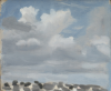 Markey, Danny (born 1965): Clouds, signed and dated 1992, oil on board, 20 x 24.5 cms. Bequeathed by Mr Michael Nicholson. Bequest.